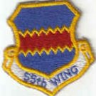 55th WING Offutt AFB, Nebraska USAF MILITARY PATCH $4 RC-135V SURVEILLANCE AIRCRAFT PILOT CREW