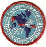 UNITED STATES OF AMERICA 1776 BICENTENNIAL SOUVENIR PATCH USA