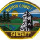 BENTON COUNTY SHERIFF POLICE PATCH OREGON USA LAWMAN COPS CSI