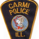 CARMI POLICE UNIFORM PATCH ILLINIOS COPS CSI LAW OFFICER JUSTICE