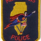 METROPOLIS POLICE DEPT. UNIFORM PATCH ILLINIOS COPS CSI LAW OFFICER SUPER MAN WOMAN