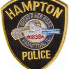 HAMPTON POLICE DEPT. UNIFORM PATCH ILLINIOS COPS CSI LAW OFFICER
