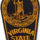 VIRGINIA STATE POLICE UNIFORM PATCH COPS CSI PATROL MAN WOMEN DRUGS GUNS CRIME