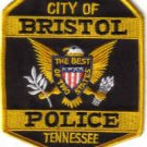 CITY OF BRISTOL POLICE TENNESSEE UNIFORM PATCH COPS CSI LAW OFFICER PATROL MAN