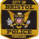CITY OF BRISTOL POLICE TENNESSEE UNIFORM PATCH COPS CSI LAW OFFICER PATROL MAN
