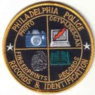 PHILADELPHIA POLICE RECORDS & IDENTIFICATION PATCH CSI COPS LAW OFFICER