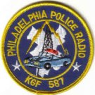 PHILADELPHIA POLICE RADIO KGF 587 PATCH POLICE CAR CRUISER LAW OFFICER COPS CSI