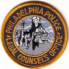 PHILADELPHIA POLICE LEGAL COUNSEL'S OFFICE PATCH LAW OFFICER COPS CSI DRUGS GUNS THIEFS
