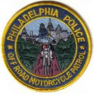 PHILADELPHIA POLICE OFF ROAD MOTORCYCLE PATROL UNIFORM PATCH COPS CSI GUNS PISTOL RIFLE LAWMAN