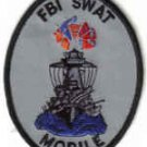 FBI SWAT MOBILE UNIFORM PATCH ALABAMA FEDERAL BEUREAU OF INVESTIGATION TEAM DRUGS GUNS CRIME