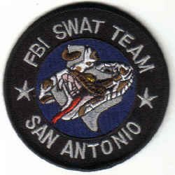 SAN ANTONIO FBI SWAT TEAM UNIFORM PATCH TEXAS FEDERAL POLICE DRUGS GUNS CRIME
