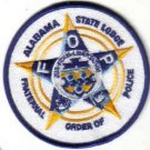 FRATERNAL ORDER OF POLICE ALABAMA STATE LODGE PATCH COPS CSI LAW OFFICER