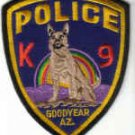 GOODYEAR AZ K9 POLICE UNIFORM PATCH ARIZONA COPS DOGS LAW OFFICER DRUGS CRIME