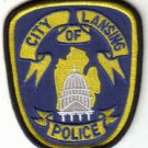 CIYY OF LANSING POLICE UNIFORM PATCH MICHIGAN COPS CSI LAW OFFICER PATROLMAN