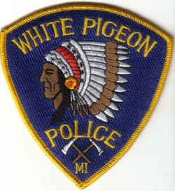WHITE PIGEON POLICE UNIFORM PATCH MICHIGAN COPS CSI LAW OFFICER INDIAN CHIEF