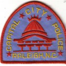 RALEIGH NORTH CAROLINA CAPITAL CITY POLICE PATCH $5 LAW OFFICER COPS
