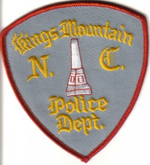 KINGS MOUNTAIN NORTH CAROLINA POLICE DEPARTMENT PATCH $5 LAW OFFICER COPS CSI
