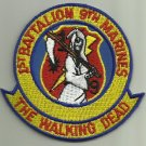 1ST BATT 9TH MARINES THE WALKING DEAD USMC MILITARY PATCH CAMP LEJUENE N.C. USA SOLDIER WARRIOR