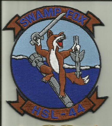 HSL- 44 SWAMP FOX US.NAVY PATCH HELICOPTER ANTI SUB USA SAILOR HELO SOLDIER FLY.