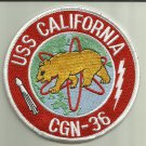USS CALIFORNIA CGN-36 U.S.NAVY PATCH NUCLEAR GUIDED MISSILE CRUISER SAILOR USA
