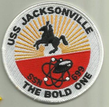 USS JACKSONVILLE SSN-699 US.NAVY PATCH NUCLEAR SUBMARINE SAILOR USA NUKE WAR