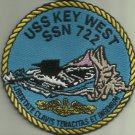 USS KEY WEST SSN 722 US.NAVY MILITARY PATCH SUBMARINE SAILOR FLORIDA USA OCEAN