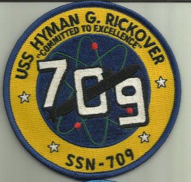 USS HYMAN G RICKOVER SSN-709 US.NAVY PATCH NUCLEAR SUBMARINE SAILOR USA NUKE WAR