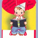 Vintage VALENTINE CARD I've Learned my TEACHER pop-up