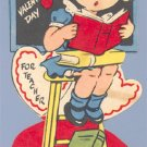 Vintage VALENTINE CARD Teacher STAND-UP You're Grand
