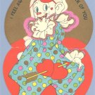 Vintage Valentine ART DECO Clown FEEL AWFUL FUNNY 1920s