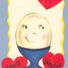 Vintage Valentine EGG CUP Pop-up I'M A PRETTY GOOD EGG