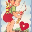 Vintage Valentine FUZZY Archer I AIM TO BE ARROW