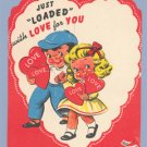 Vintage Valentine ERCO LOLLIPOP CARD Loaded with Love