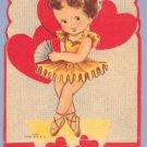 Vintage Valentine DANCER Ballerina POP-UP On My Toes