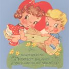 Vintage Valentine BALANCE Mechanical See-Saw Card