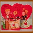 Vintage Valentine Card SHOP AROUND Scale GOOD MEASURE