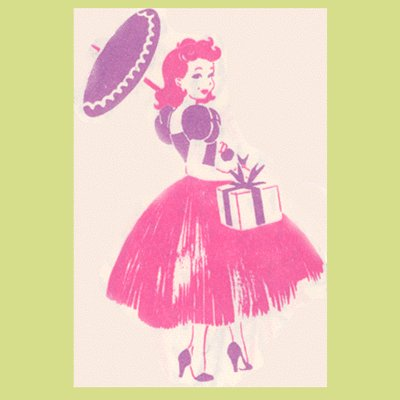 Vintage WRAPPING PAPER High-Heeled Ladies PIN-UP GIRLS