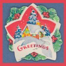 Vintage HOME FOR CHRISTMAS Gift Tag/Seal Lot SCRAPBOOK