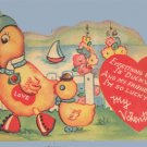 Vintage Valentine DUCK in SPATS Everything is DUCKY