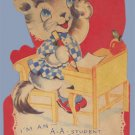 Vintage Valentine CAT ABC Student 1930s Mechanical