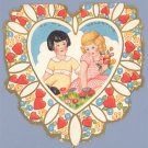 Vintage Valentine WHITNEY MADE Deco DOLL Heart 1930s