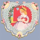 Vintage Valentine WHITNEY MADE Deco HEART Bashful 1928