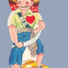 Vintage Valentine 1950s PIRATE Your Heart is Treasure