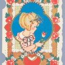 Vintage Valentine FAIRFIELD LINE Tulip FLOWER 1920s/30s