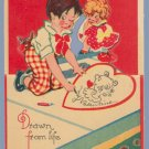 Vintage Valentine 1920s GERMANY Stand-up DRAWN
