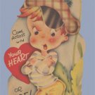 Vintage Valentine 1930s COME ACROSS with YOUR HEART Canada