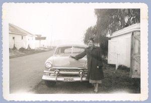 Vintage Photo FORD CAR Custom Victoria 1951