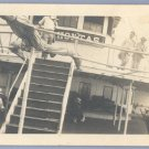 Vintage Photo 1910s ABOARD SHIP Boat POCAHONTAS
