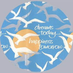 Vintage GIFT WRAPPING PAPER Wrap 1980s SEAGULL Dreams Today