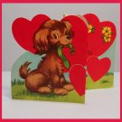 Vintage Valentine's Day Card DOG I'll Collar You Yet